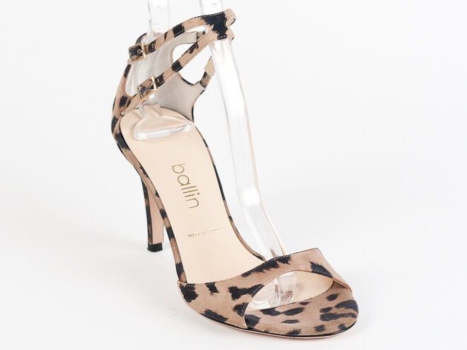 New Ballin Leopard Suede Made in  Sandals Size 41 US 11