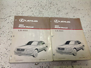 1992 lexus ls400 ls 400 service repair shop workshop manual set oem rh ebay com 1992 lexus ls400 manual 1995 Lexus LS400