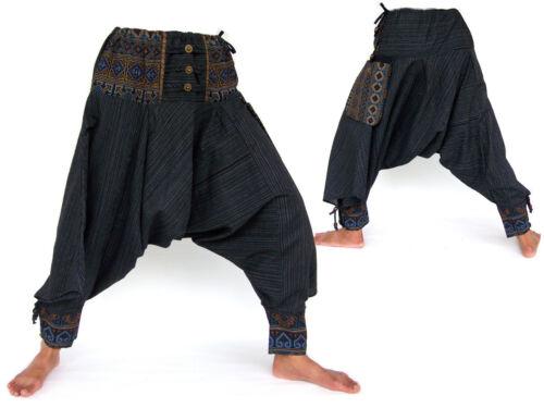 Harem Pants men women Samurai Pants Boho Pants Drop Crotch Pants Yoga Pants
