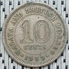 1953 - Malaya - 10 Cents Elizabeth II #CBNK