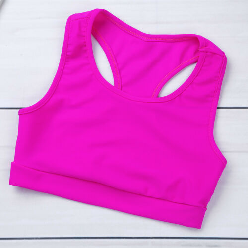 Girls 2-Piece Sports Dance Outfit Crop Top with Booty Shorts Gymnastics Leotards