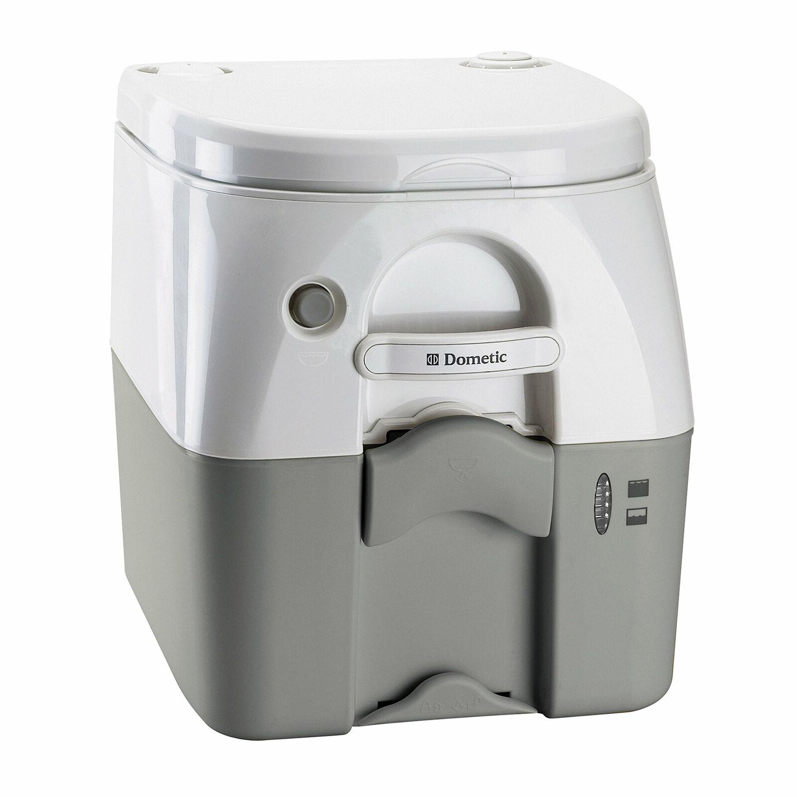 Dometic 5 Gallon(W 301097506 970 Series Portable Toilet-5.0 Gallon, Gray with…