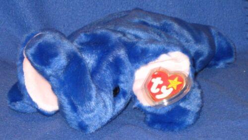MINT with MINT TAG TY PEANUT the ROYAL BLUE ELEPHANT BUDDY
