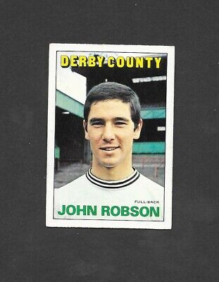 A/&BC-FOOTBALL 1972 ORANGE//RED BACK-#049 DERBY COUNTY JOHN ROBSON