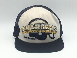 2e4ec066234e8 Vintage San Diego Chargers Snapback Hat 80s 90s New Era NFL USA Made ...