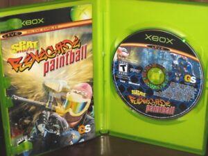 Splat-Magazine-039-s-Renegade-Paintball-Original-XBOX-FPS-Game-Complete