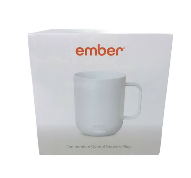 Ember Temperature Control Smart Ceramic Mug 10 oz EBEH-CM171002US White New