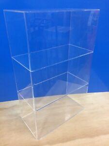 Acrylic-Lucite-Countertop-Display-ShowCase-Cabinet-12-034-x-7-034-x-19-034-h-2-shelves