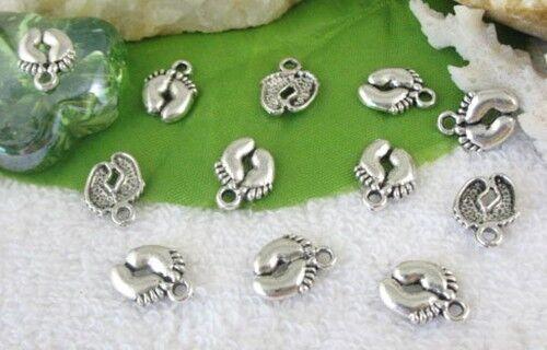 120pcs Tibetan silver feet charms FC10517
