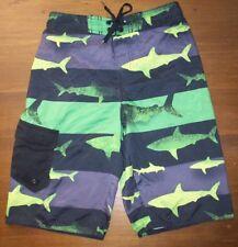 9c854b3091 Hang Ten Boys Swim Trunks Swimsuit Board Shorts Mesh Liner Medium M 10-12