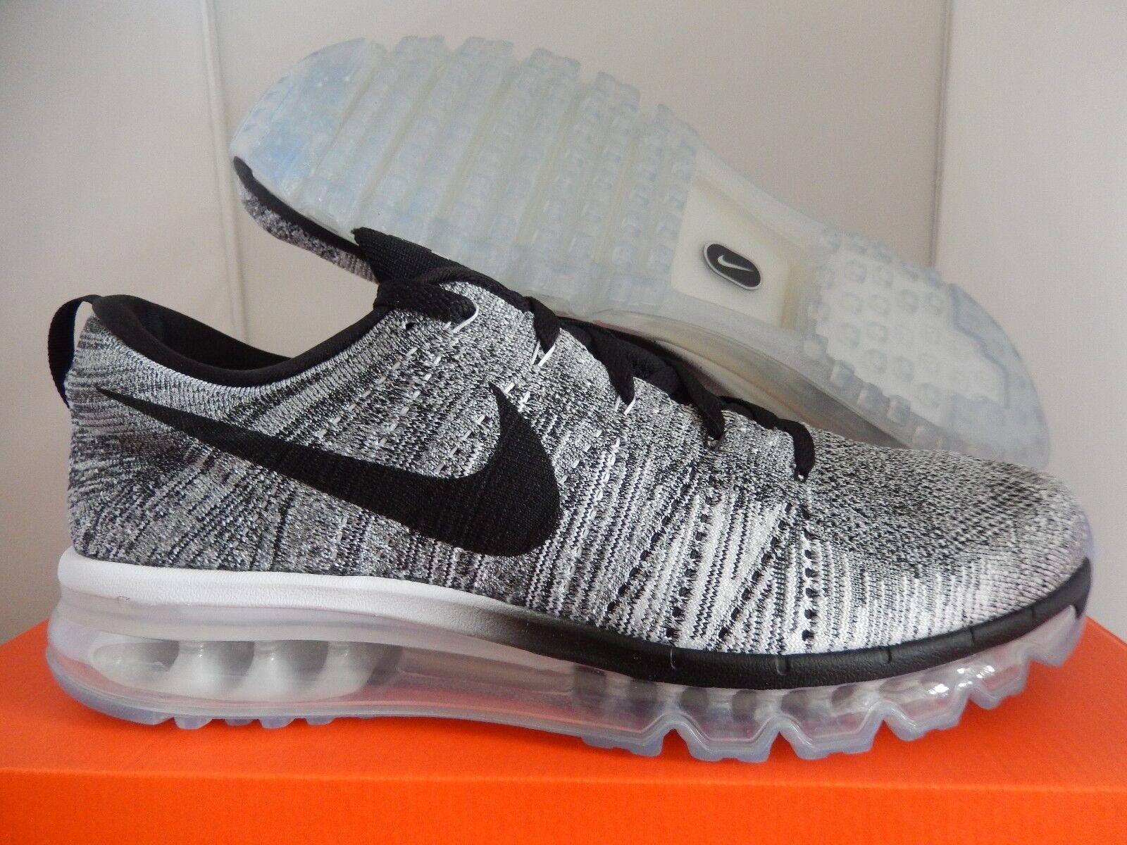 Nike flyknit max white-nero-cool grey-wolf grey sz oreo raro![620469-102]