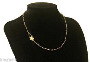 Bellissima-collana-rosario-modello-girocollo-in-puro-acciaio-colore-oro