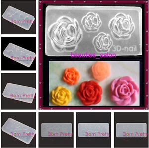 3D-Nail-Art-Acrylic-Mold-Silicone-Mould-Rose-Flowers-Manicure-Tool-Decoration
