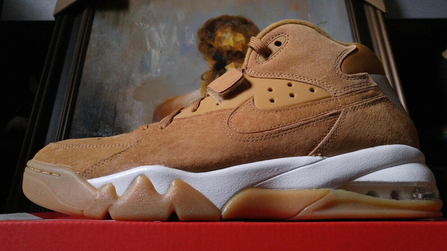 Nike Air Force Max Prm flax Wheat size 10.5 11 315065 200 brown tan suede fab5