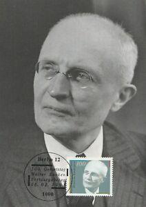 Walter-Eucken-Erstausgabetag-8-1-1991-Deutsche-Maximumkarte