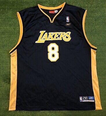 Kobe Bryant #8 Jersey Reebok Authentic Black/Gold XXL | eBay