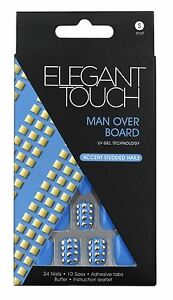 Elegant-Touch-False-Nails-Man-Over-Board-Short-Length-24-Nails