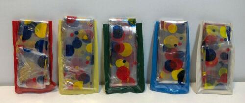 Lot of 5 Vintage Rain Bonnet Wonder Bread Polka Dot Pattern Honk Kong NOS
