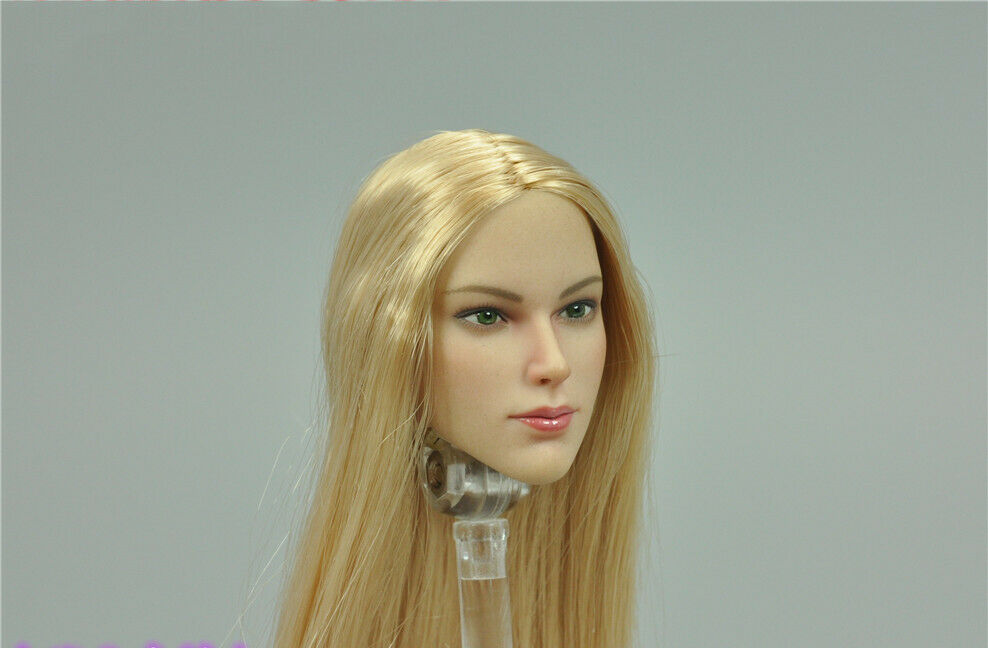 1 6 6 6 VERYCOOL FX07 A European and American blonde Long straight Headsculpt Model 1e2001