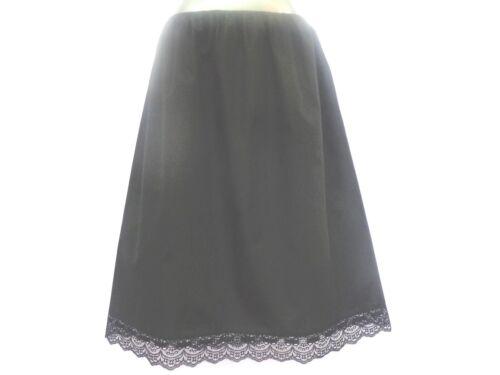 "100/%COTTON Underskirt Waist Skirt Half Slip />2 LENGTHS AVAILABLE 25/"" /& 35/"" MAXI"