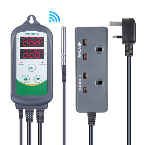 Inkbird 308 Digital Thermostat WIFI Temperataure Controller 2 Relays APP Monitor