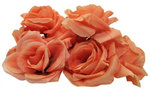 20 Rose Head Buds Real Touch Artificial Flowers Bouquet Wedding Favours Craft