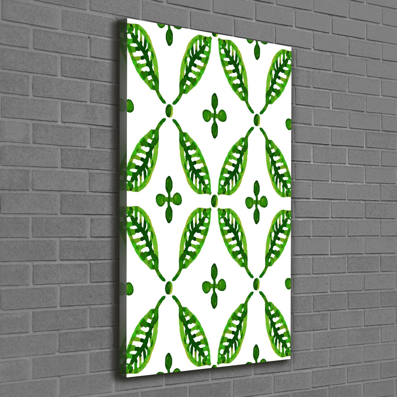 Leinwand-Bild Kunstdruck Hochformat 60x120 Bilder Grüne Blätter