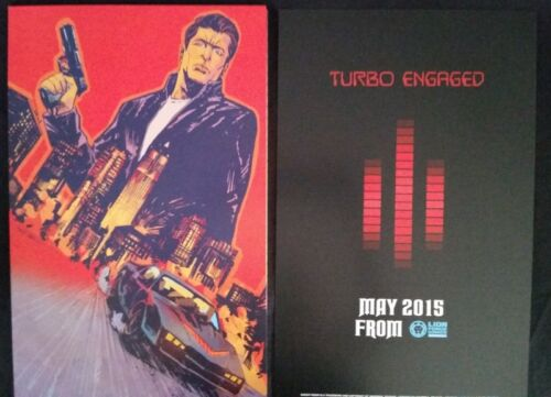 WonderCon 2015 Handout LION FORCE COMICS Knight Rider poster print  Dual sided