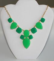 Kate Spade York Branton Square Green Stone Bib Statement Necklace $178