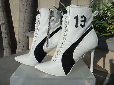 Puma Fenty by Rihanna White Leather or Black Suede High Heel Sneaker UK5.5  US8M