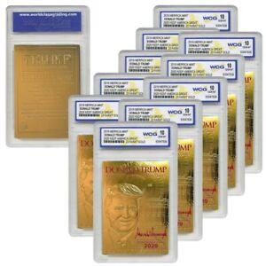 DONALD TRUMP 45th President 23K GOLD Card SIGNATURE 2020 GEM MINT 10 (QTY - 10)