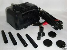 12VOLT DC SUBMERSIBLE WATER  FOUNTAIN PUMP FOR USE W 12V SOLAR PANEL OR BATTERY