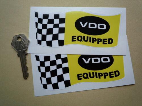 "VDO Classic Racing STICKERS 5/"" Pair GP F1 Mustang Camaro Corvette GTO Race Cars"