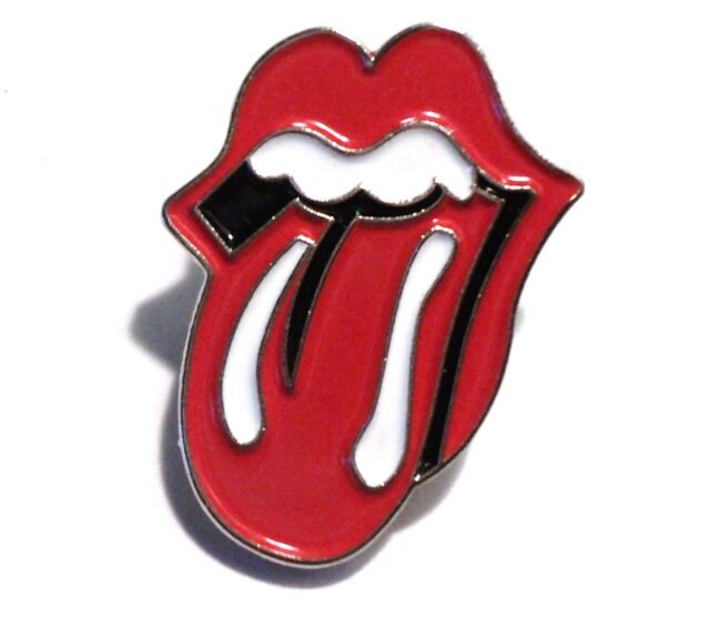 NEW Rolling Stones Red Lips Tongue Lick Small Logo 20mm Metal Enamel Pin Badge