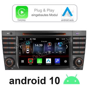 Carplay&Android Auto 10 GPS DVD Autoradio für Benz C Klasse W203 W209 AMG C63