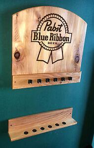 New Pabst Blue Ribbon Pbr Wall Mount Billiards Pool Cue