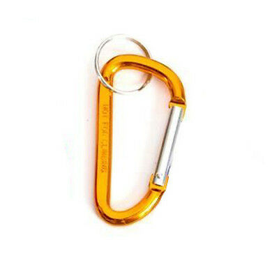 "2"" GOLD / BRONZE METAL CARABINER CLIP KEYRING KEYCHAIN KEY ACCESSORY - COOL GIFT"