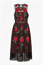 French Connection Amore Sparkle Embroidered Tulle Dress Size UK 14 Box4688 C