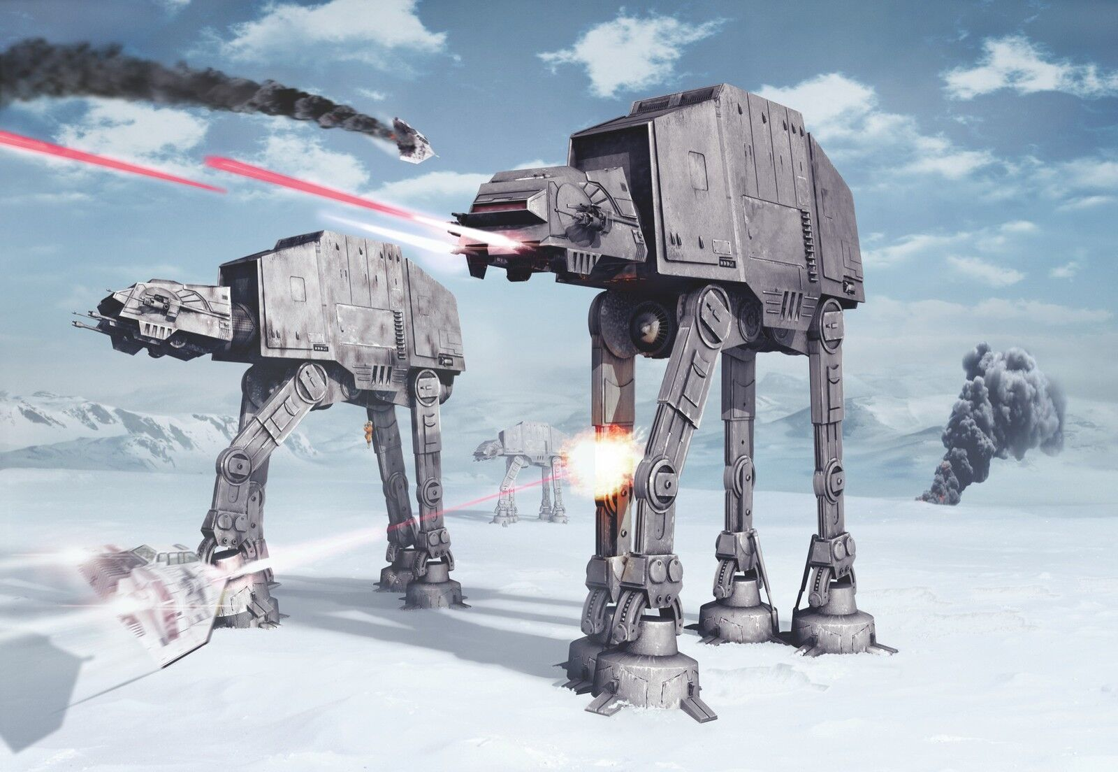 Riesiges Fototapete Wandtapete Star Wars Battle Of Hoth Kinderzimmer Papier