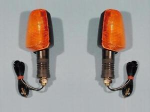2 Blinker f. Suzuki UNIVERSAL GS GSX 400 550 650 750 850 1000 KURZ 2 turn signal
