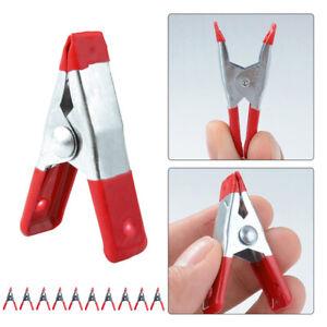 10PCS-2-1-7cm-Mini-Molla-in-Metallo-Morsetto-con-Plastica-Tacchi-Strumento-Per