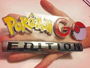 Details About Pokemon Go Emblem Car Truck Logo Sign Not Game Account Chrome Decal Plus