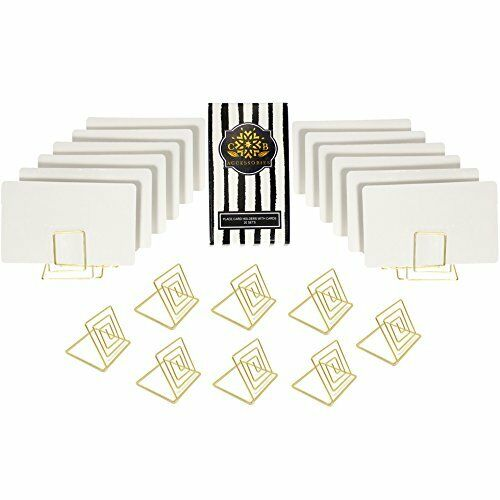 Wire Place Card Holder Stands With White Cards For Weddings Dinner