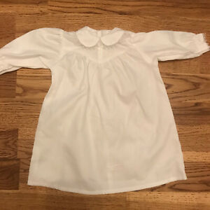 American Girl Addy White Flannel Nightgown~Pajamas Historical Pleasant Company
