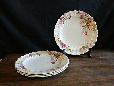 "Lot 10 1//2/"" Copeland Spode Fairy Dell Spiral Dinner Plates 4"