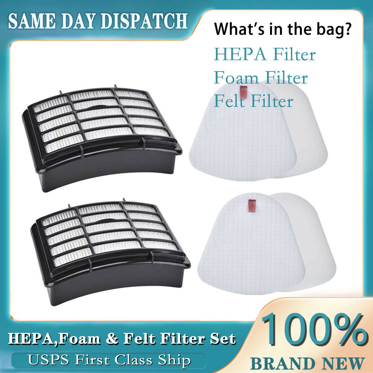 2 Set Foam /& Felt Filter For Shark Navigator Lift Away Vacuum NV350 NV370 XFF350