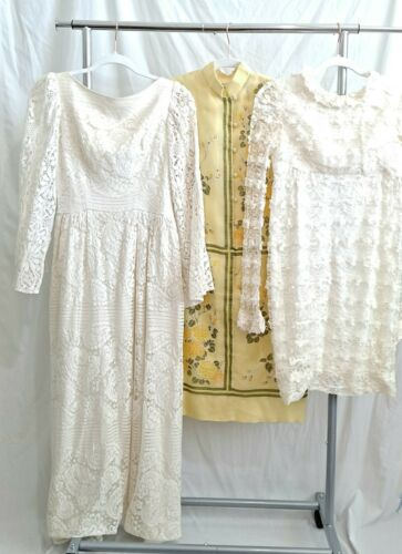 3 Pc Dress Lot 60s 70s As Is Lot Alfred Shaheen Sh