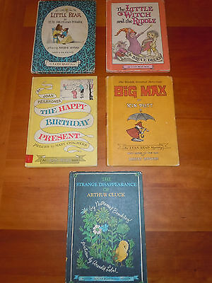 5 Vintage Childrens I Can Read Books Little Bear Sendak Lobel Big Max Cluck EUC