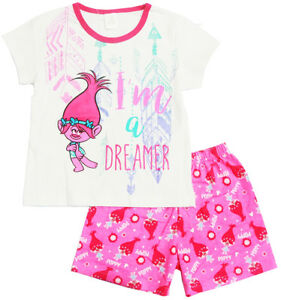 NEW SZ 3-8 KIDS SUMMER PYJAMAS TROLLS MAUI TOP SLEEPWEAR PJS GIFT GIRLS  NIGHTIES  3ac610dff