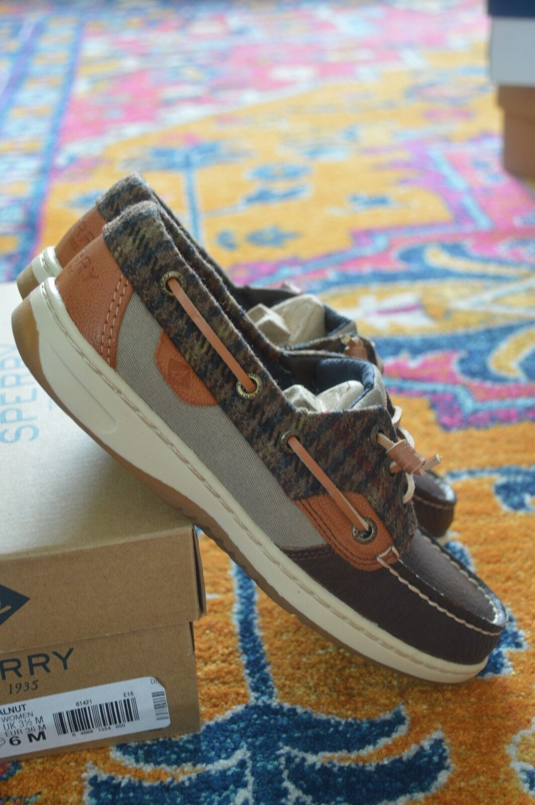 Sperry Women's Rosefish Leather Boat Shoe, Size US 6 ,(STS97581)